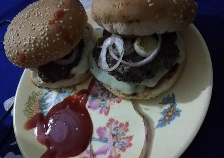 Chapli cheese kebab burger