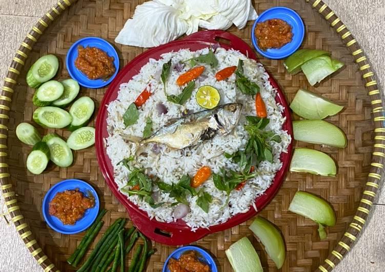 13. Nasi Liwet Peda Praktis masak RiceCooker