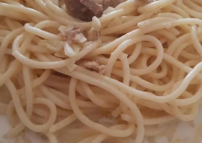 Sarapan kenyang pake Fettucini Carbonara