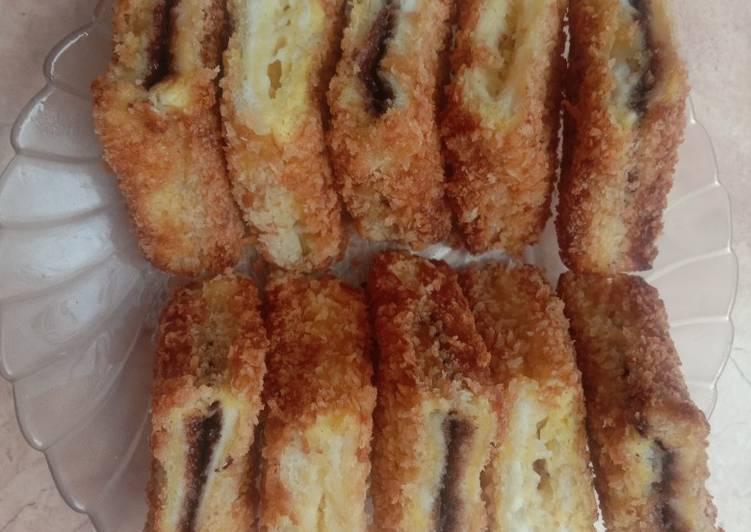 6. Roti Kriuk Cokelat & Keju (Simple & Enak)