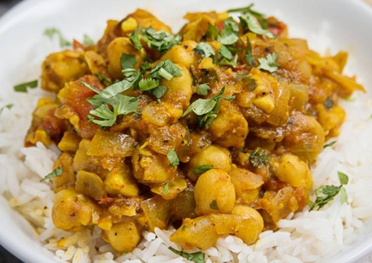 Recipe of Most Popular Chickpea curry