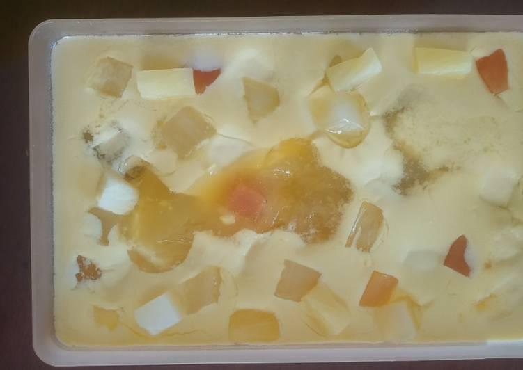 Puding buah sirup jeruk florida