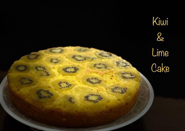 Simple Way to Prepare Homemade Kiwi and lime upside down cake