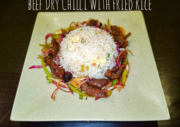 Beef Dry Chilli With Fried Rice
