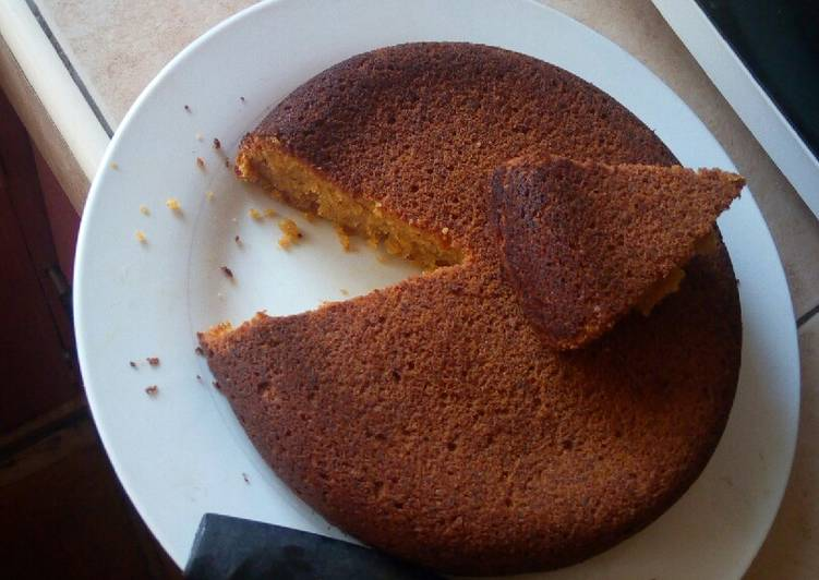 Steps to Make Quick Mango/carrot cake…. #Baking for kids..