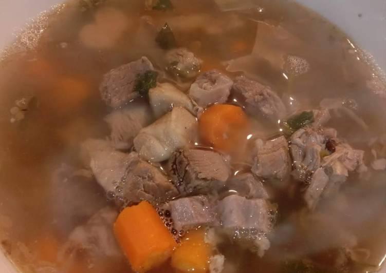 mudah menyiapkan soup daging sapi lezat dapur emak Resepi Sup Daging Cincang Enak dan Mudah
