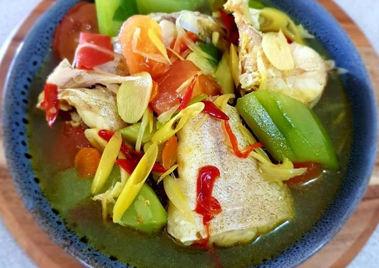 Cod Fish With Cucumber Soup