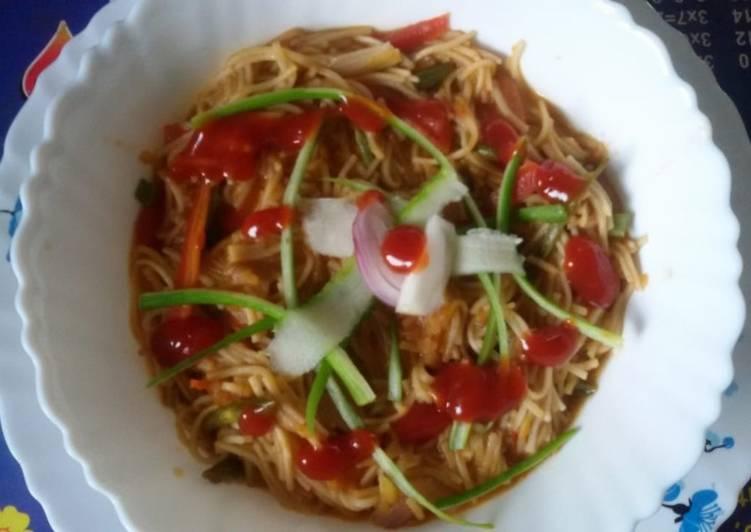 Easiest Way to Make Homemade Soupy veg noodles