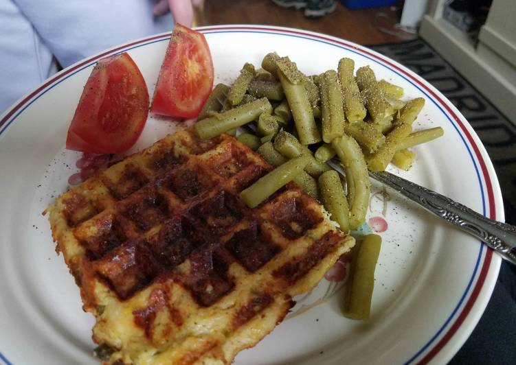 Recipe of Homemade Chicken jalapeno popper chaffle