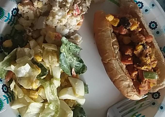 Hotdog Salad