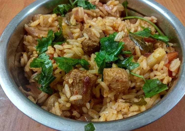 Soya 65 fried rice