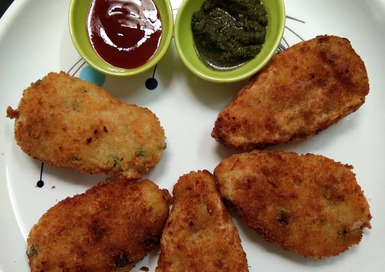 10 Minute Simple Way to Prepare Homemade Leftover rice cutlet