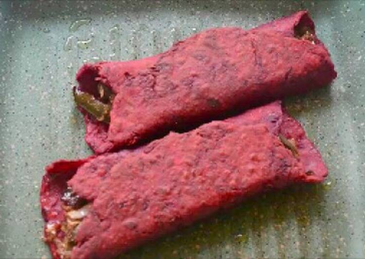 Beetroot and cabbage farnkies