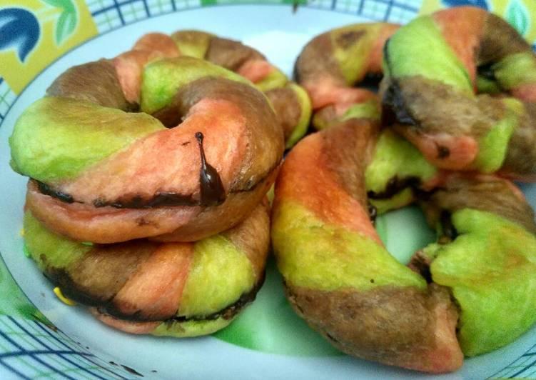 Donat kentang rainbow unyu 🌈