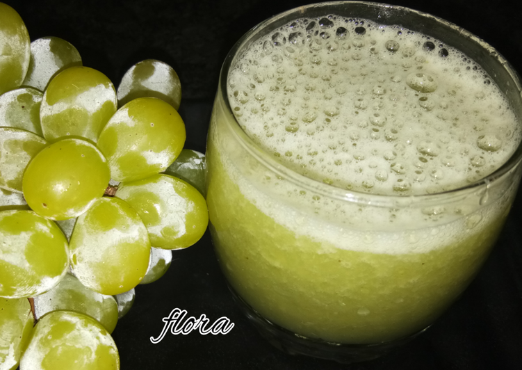 Simple Way to Prepare Homemade Green grapes juice