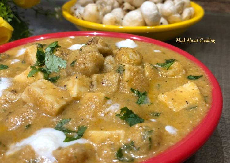 Creamy Makhana Paneer Sabzi – Calcium Rich Lunch Recipe