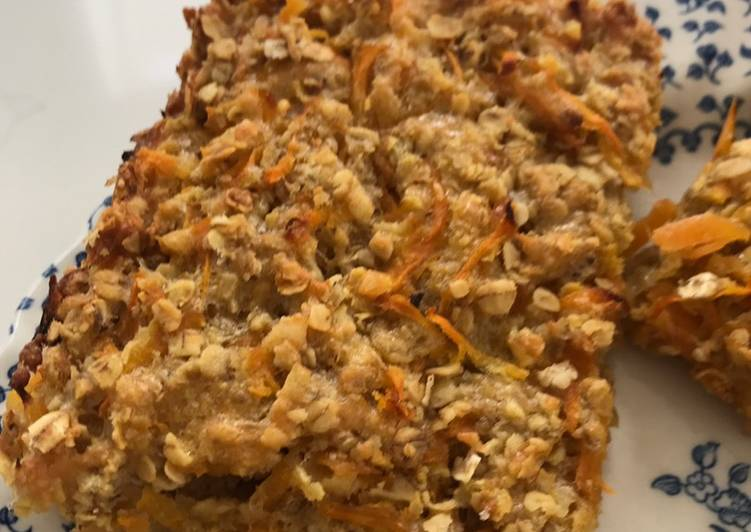 Foods That Make You Happy Savoury carrot flapjacks