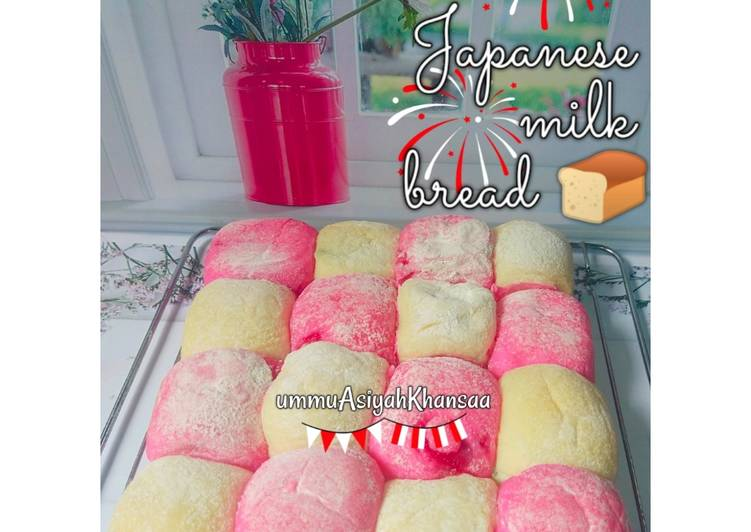 Japanese milk bread merah putih filling srikaya stroberi🇲🇨🇲🇨