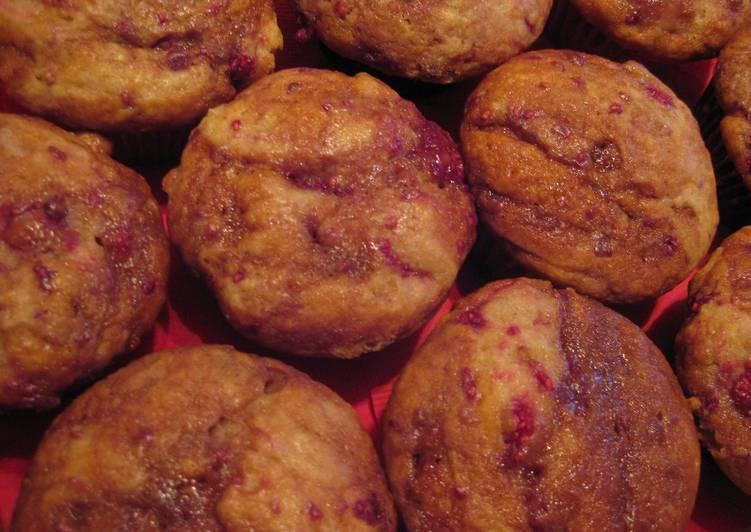 Raspberry Caramel Muffins
