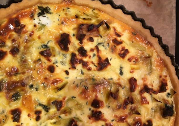 Roasted squash and goat cheese quiche