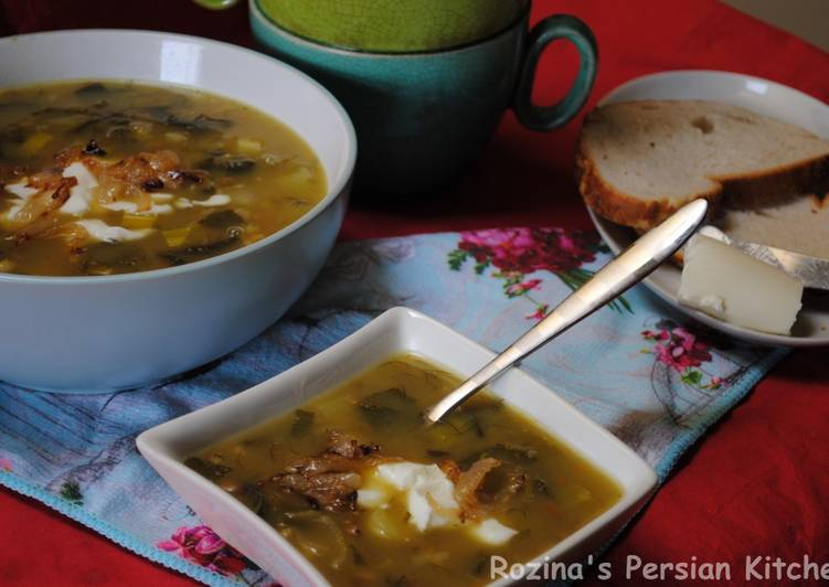 Omaj soup آش اوماج تبریزی, Helping Your To Be Healthy And Strong with Food