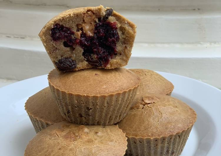 105. Peanut Butter and Jelly Muffin (Gluten Free)