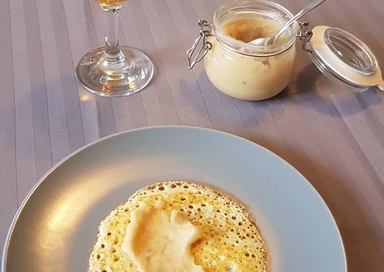 Crêpe au beurre de pomme