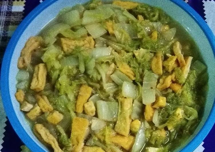 Sayur Sawi Putih Tahu Kuning Sederhana
