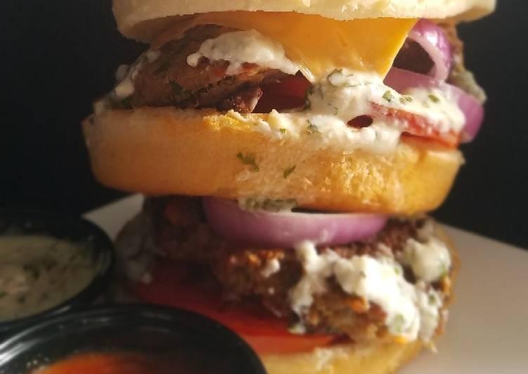 Chapli kebab Burger