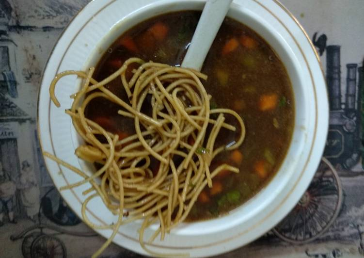 Barley manchow veg soup