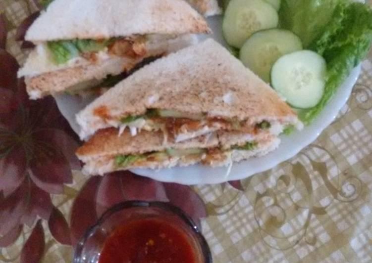 Chicken BBQ Sandwich kids lunch box idea