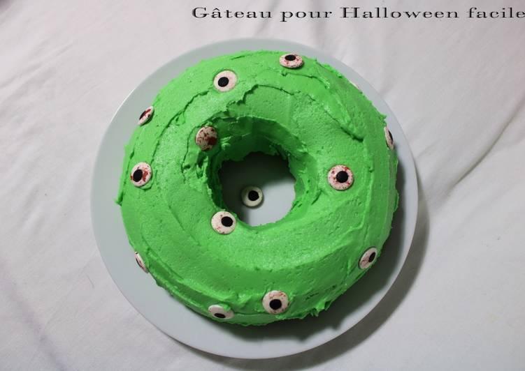 Recette Délicieuse Gâteau facile pour Halloween