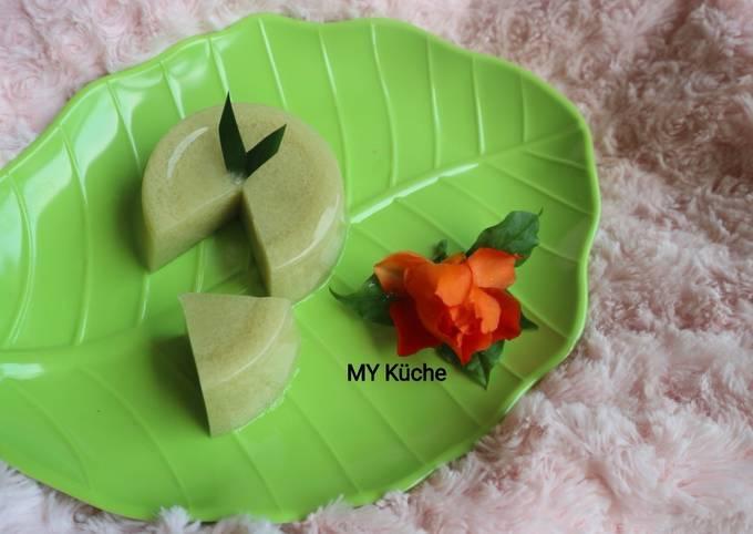 Matcha Latte Moss Pudding