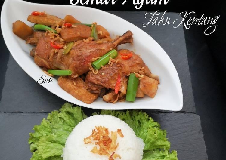 Semur Ayam Tahu Kentang (metode slow cooked)