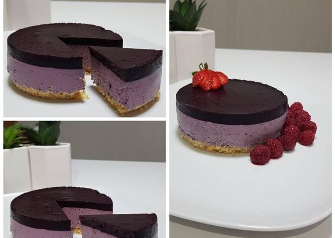 Blueberry Cheese Cake (No Bake Dessert)