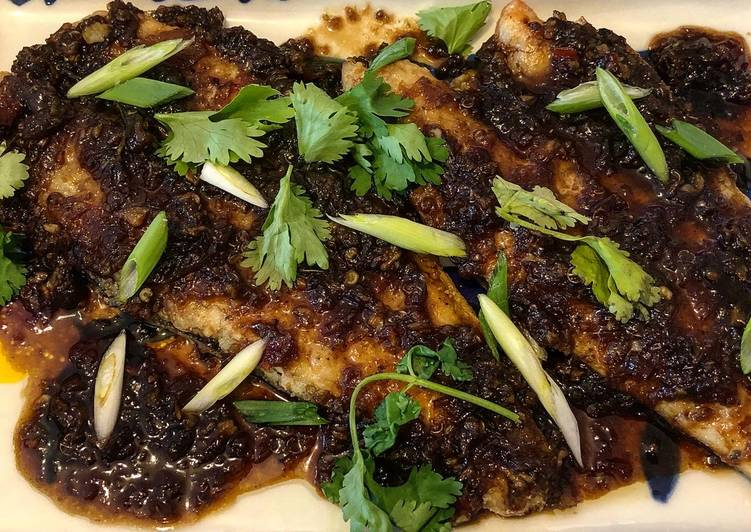 Indonesian Pan Fried Seabass