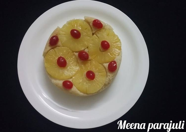 Pineapple upside down cake widout egg