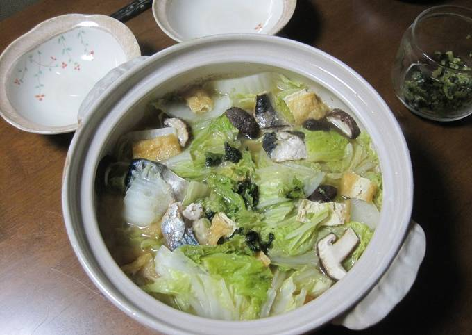 Salted Mackerel and Chinese Cabbage Hot Pot
