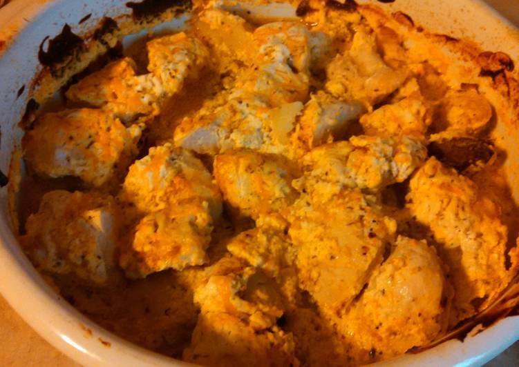 Ranch dip chicken & potatoes