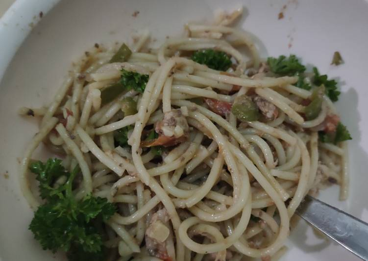 5 Minute Recipe of Homemade Sardines Pasta