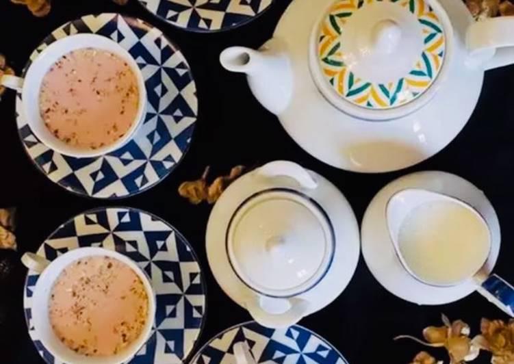 Recipe of Any-night-of-the-week Kashmiri Chai (pink Tea)