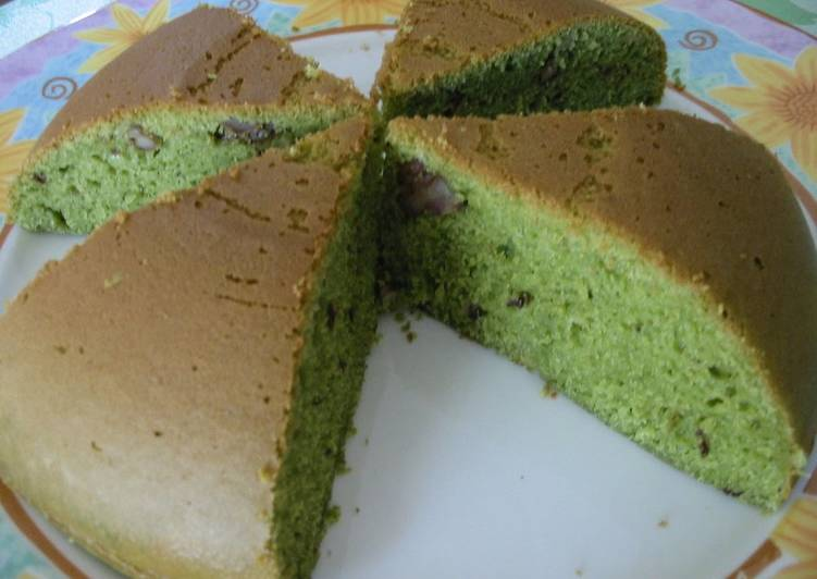 Foods That Can Make You Happy Easy With A Rice Cooker! Matcha Tea Cake With Walnuts