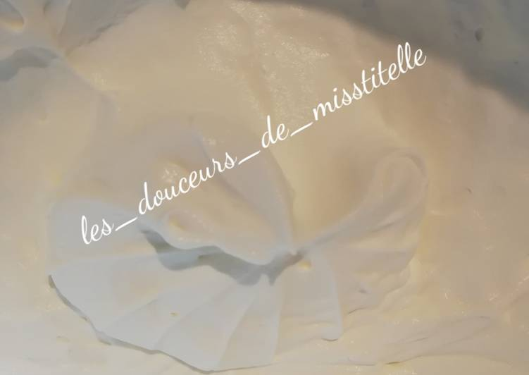 Recette: Crème chantilly