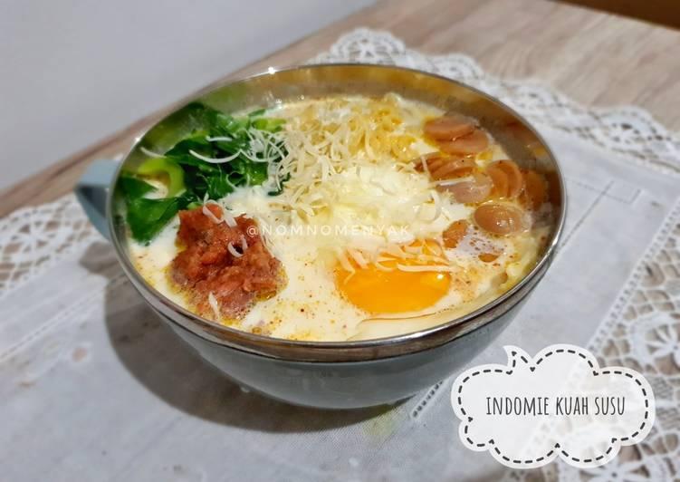 Resep Indomie kuah susu Paling Gampang