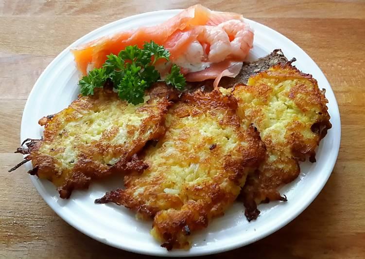 Sig's German Reibekuchen with Sauerkraut
