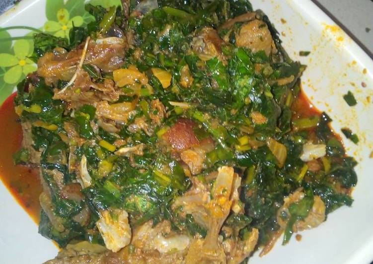 Vegetables soup with goat meat