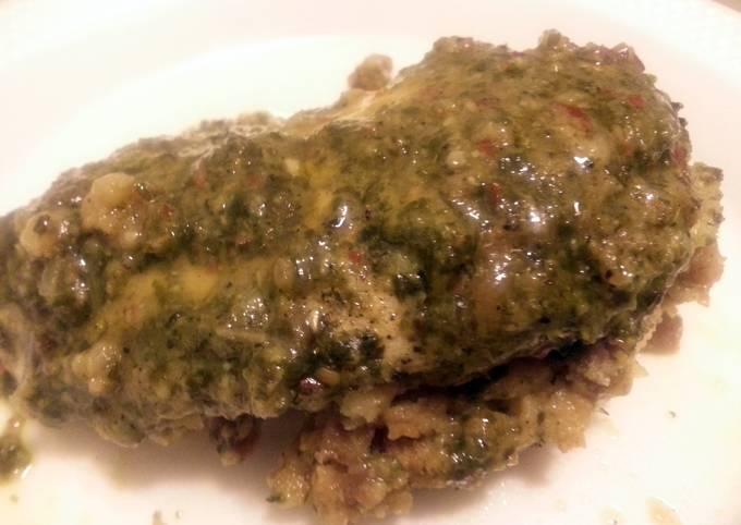 Sausage Stuffed Chimichurri Chicken Breast