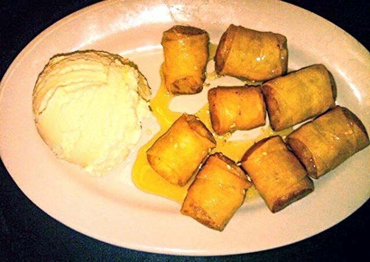 Easy thai deep fried banana dessert