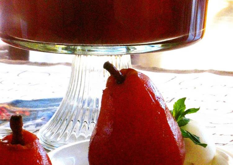 Recipe: Tasty Pear Compote Made with Red Wine