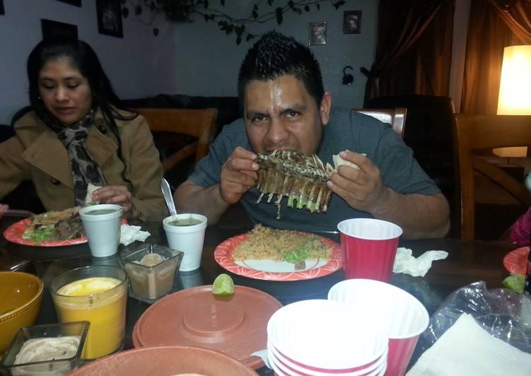 Recipe of Ultimate barbacoa de chivo o borego al horno (mexican bbq goat or lamb in the oven)